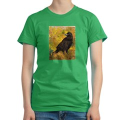 Wheat Field Women's Fitted T-Shirt (dark)