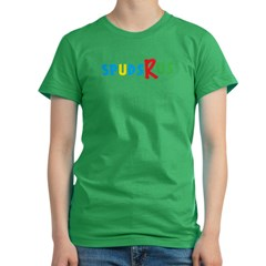 Spus-R-Us Women's Fitted T-Shirt (dark)