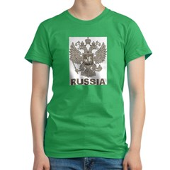 Vintage Russia Women's Fitted T-Shirt (dark)