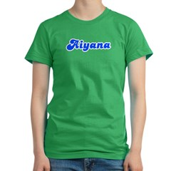 Retro Aiyana (Blue) Women's Fitted T-Shirt (dark)