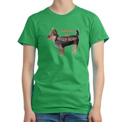 Australian terrier Belly rub Women's Fitted T-Shirt (dark)