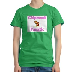 Chipmunk Fanatic Women's Fitted T-Shirt (dark)