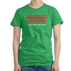 Professional Therapist Women's Fitted T-Shirt (dark)