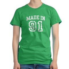 Made in 91 Women's Fitted T-Shirt (dark)