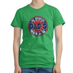 Dad's All American Bar-B-Q Women's Fitted T-Shirt (dark)