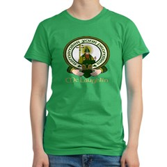 McLaughlin Clan Motto Women's Fitted T-Shirt (dark)