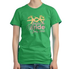 July Beach Bride 2008 Women's Fitted T-Shirt (dark)