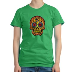 Skull Women's Fitted T-Shirt (dark)