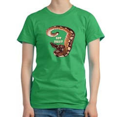 SPIDER BALL PYTHON SNAKE Women's Fitted T-Shirt (dark)