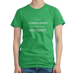 Coming Soon Women's Fitted T-Shirt (dark)