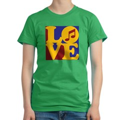 Orchestra Love Women's Fitted T-Shirt (dark)