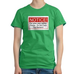 Notice / Bankers Women's Fitted T-Shirt (dark)