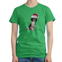 Santa Havanese Christmas Women's Fitted T-Shirt (dark)