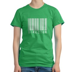 Director Barcode Women's Fitted T-Shirt (dark)