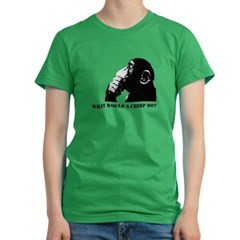 What would a chimp do? Women's Fitted T-Shirt (dark)