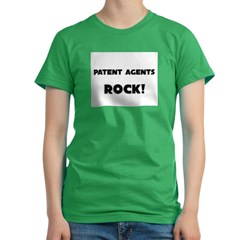 Patent Agents ROCK Women's Fitted T-Shirt (dark)
