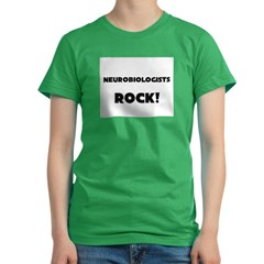Neurobiologists ROCK Women's Fitted T-Shirt (dark)