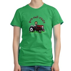 Light Red Farmer Women's Fitted T-Shirt (dark)