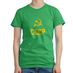 Vintage CCCP/USSR Women's Fitted T-Shirt (dark)