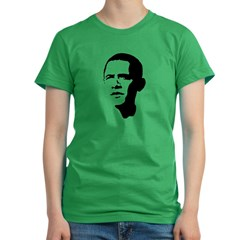 Obama Women's Fitted T-Shirt (dark)