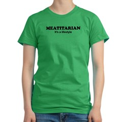 Meatitarian Women's Fitted T-Shirt (dark)