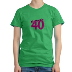 Aunt's 40th Birthday Women's Fitted T-Shirt (dark)