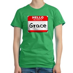 Hello my name is Grace Women's Fitted T-Shirt (dark)
