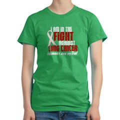 In The Fight 1 LC (Dad) Women's Fitted T-Shirt (dark)