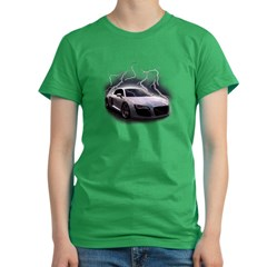 Joels car Women's Fitted T-Shirt (dark)