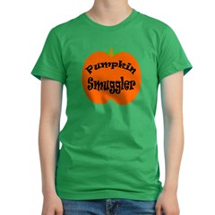 Pumpkin Smuggler Women's Fitted T-Shirt (dark)