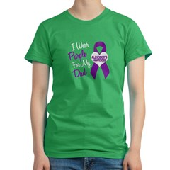 I Wear Purple For My Dad 18 (AD) Women's Fitted T-Shirt (dark)