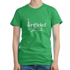 English Arabic Infidel Women's Fitted T-Shirt (dark)