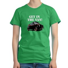 Get In The Van Women's Fitted T-Shirt (dark)