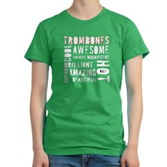 Are_Hot_Trombones-white copy Women's Fitted T-Shirt (dark)