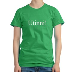 Utinni! white Women's Fitted T-Shirt (dark)