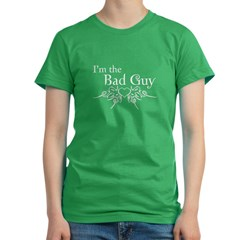 I'm the Bad Guy Women's Fitted T-Shirt (dark)