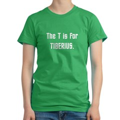 T is for Tiberius...Dark Women's Fitted T-Shirt (dark)