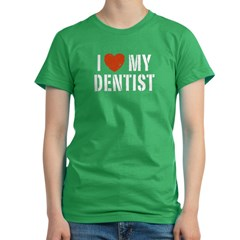 I Love My Dentis Women's Fitted T-Shirt (dark)