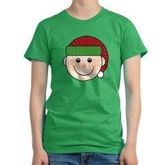 Funny Christmas Elf Maternity Tshirt Women's Fitted T-Shirt (dark)