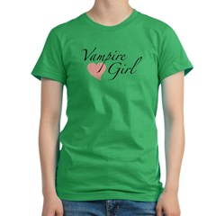 Vampire Girl Women's Fitted T-Shirt (dark)