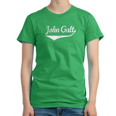 John Galt Women's Fitted T-Shirt (dark)