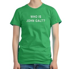 Who is John Galt? Women's Fitted T-Shirt (dark)