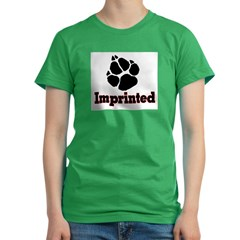 IMPRINTED2 Women's Fitted T-Shirt (dark)