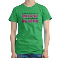 ADULT SIZES rock star big sister Women's Fitted T-Shirt (dark)