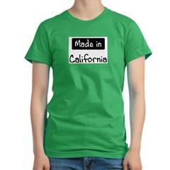 Made in California Women's Fitted T-Shirt (dark)