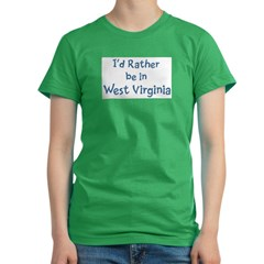 Rather be in West Virginia Women's Fitted T-Shirt (dark)