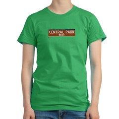 Central Park West in NY Women's Fitted T-Shirt (dark)
