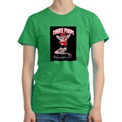zombie pinup Women's Fitted T-Shirt (dark)