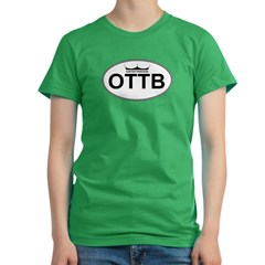 OTTB_HP_trans Women's Fitted T-Shirt (dark)