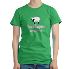 Sheep Happens - Women's Fitted T-Shirt (dark)